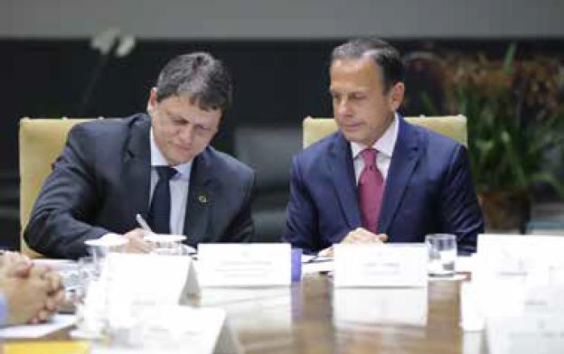 Governador João Dória e Ministro Tarcísio Freitas