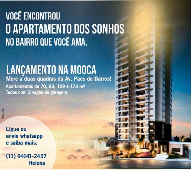 Lançamento de Prédio de Apartamentos na Mooca