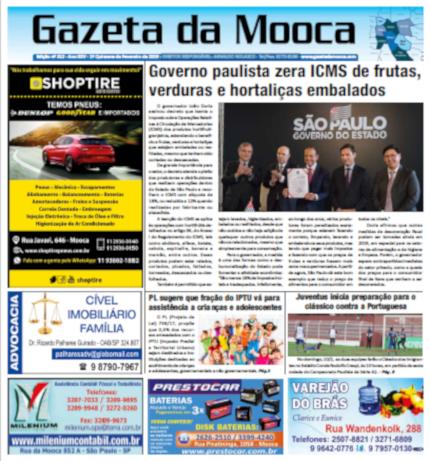 Gazeta da Mooca - Edição nº 312 - Ano XXV - 1ª Quinzena de Fevereiro de 2019