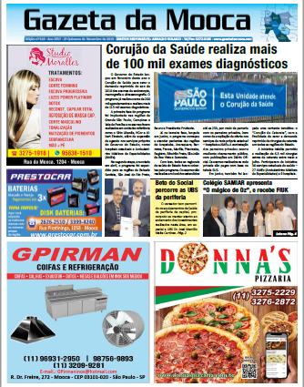 Gazeta da Mooca - Edição nº 319 - Ano XXVI - 2ª Quinzena de Novembro de 2019
