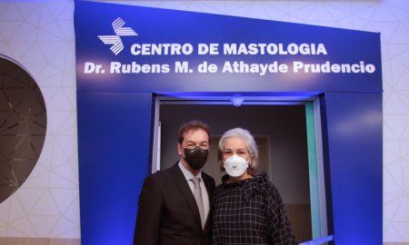 Presidente/ CEO Valdir Ventura ao lado da Diretora de Recursos Humanos do São Cristóvão Saúde, Verenice Prudencio